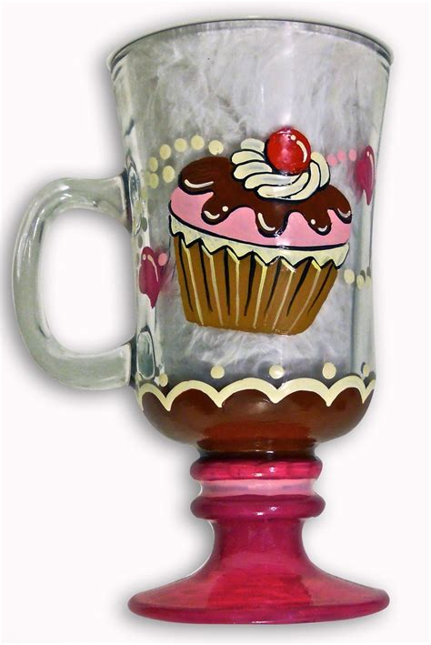 painted glass coffee 1000 images about hand painted glass coffee glasses on