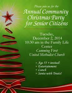 community christmas party for senior citizens cumming