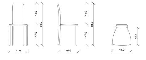 misura sedia sedia in legno margot riflessi it