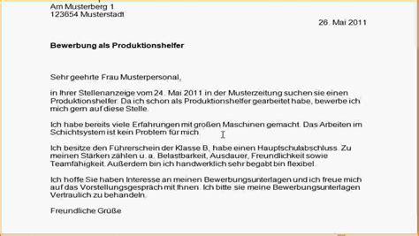 Bewerbung Anschreiben Produktionsmitarbeiter Bewerbung Produktionsmitarbeiter Muster Reimbursement Format
