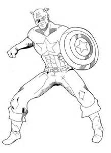 Captain America Coloring Page Coloring Home Captain America Color Page