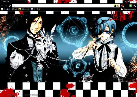 google chrome themes anime kuroshitsuji kuroshitsuji black butler anime crx