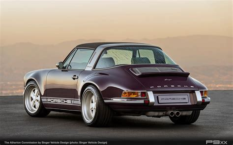porsche singer singer atherton is one incredibly purple porsche targa p9xx