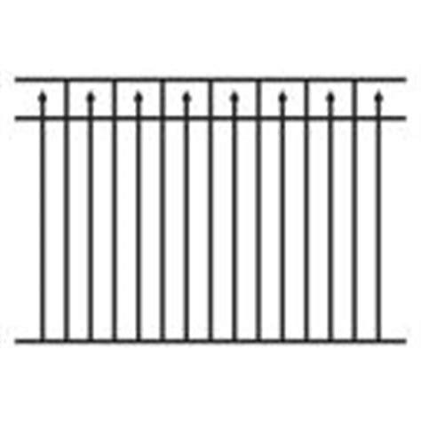 Allure Aluminum 4 5 Ft H X 6 Ft W Aluminum Black Unassembled Provincial 3 Rail Fence Panel Fence Warranty Template