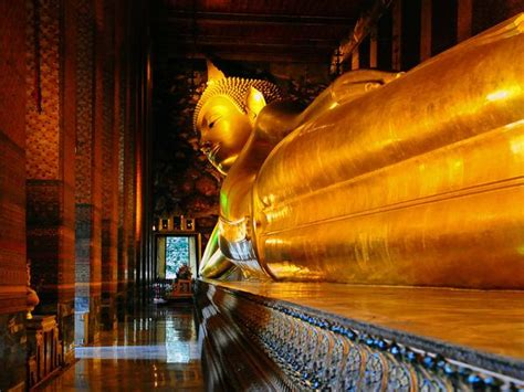 Reclining Buddha Temple Bangkok by Thailand Photos National Geographic