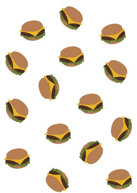 Pouch Kosmetik Transparant 3 In 1 hungry zipper transparent burger pattern
