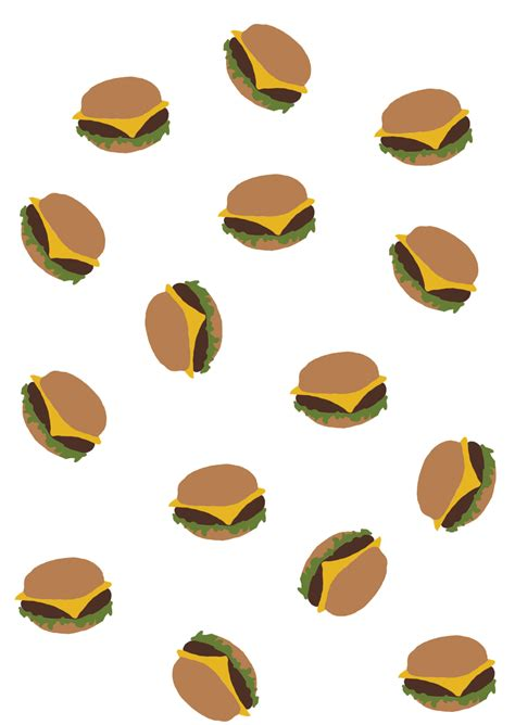 Hungry Zipper (Transparent Burger Pattern  )