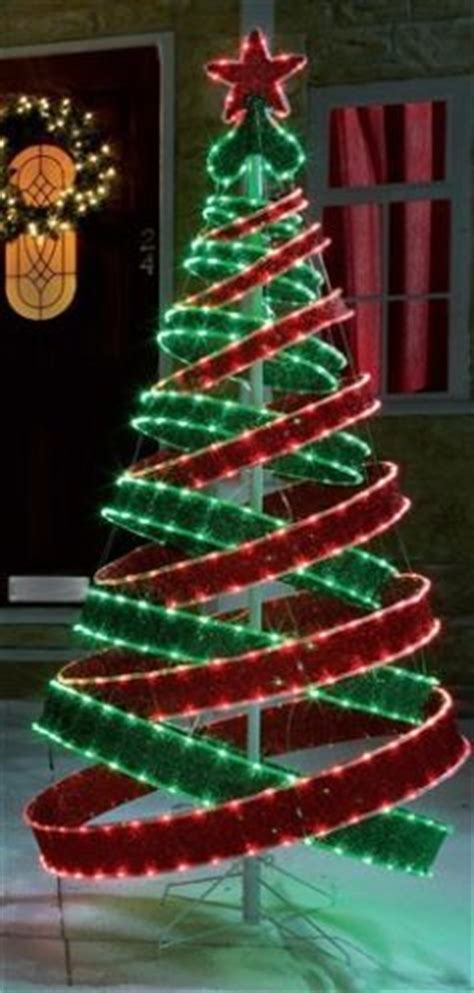 4ft outdoor red green pre lit pop up spiral christmas tree