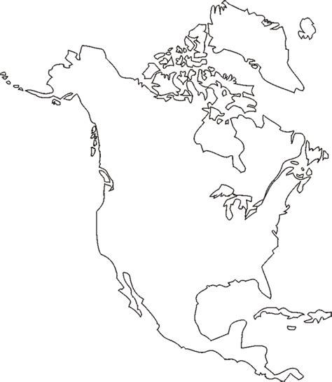 America Map Outline Printable by America Map Outline