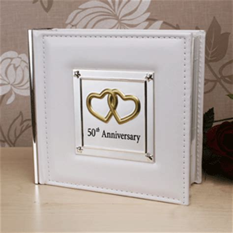 Wedding Anniversary Album by Leather And Silver 50th Wedding Anniversary Photo Album