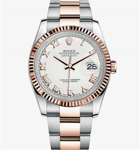 Rolex Chronometer Combi Gold Blue replica rolex datejust everose rolesor combination of 904l steel and 18 ct everose gold