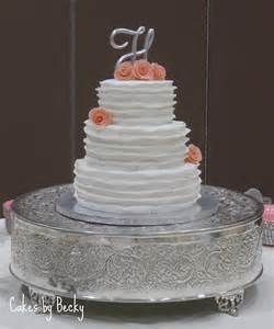 Wedding Cake No Fondant by Buttercream Wedding Cakes No Fondant Ruffle