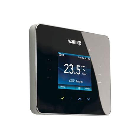 bathroom underfloor heating thermostat warmup 3ie programmable touchscreen thermostat uk bathrooms