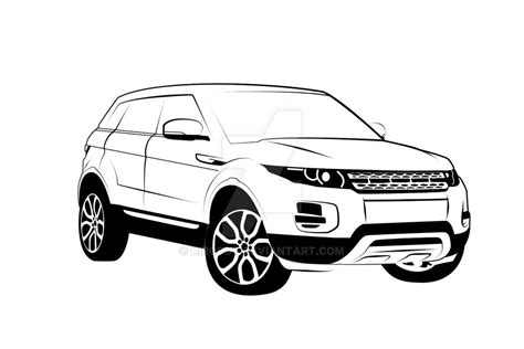 range rover sketch range rover evoque by kirodut on deviantart