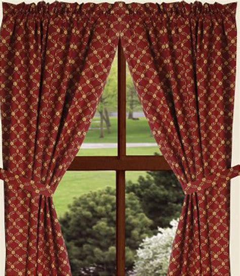 diamond drapery barn red ridgebury diamond drapery curtain panels 84 quot x 86 quot