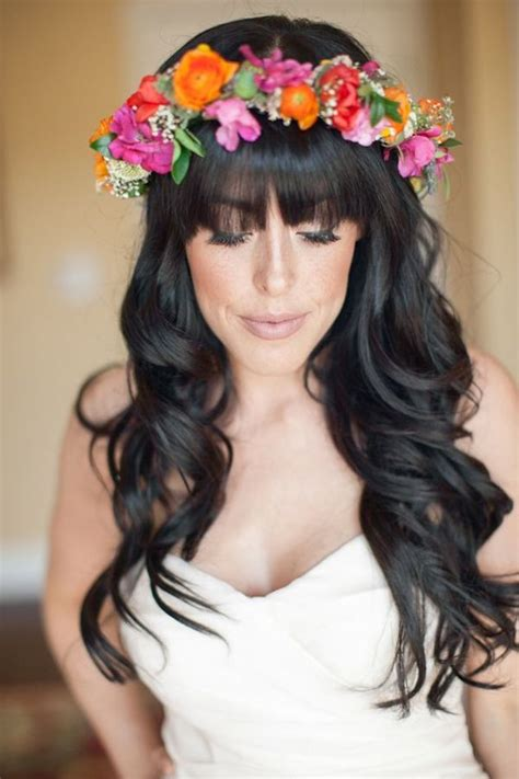 Wedding Hairstyles Hair With Bangs by Brides With Bangs Wedding Hair Inspiration Bridal Musings