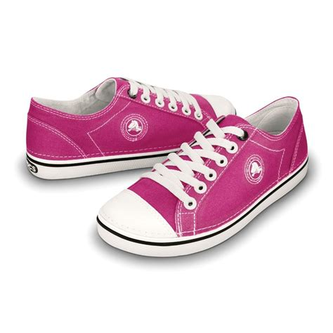 crocs womens hover lace up raspberry white light weight
