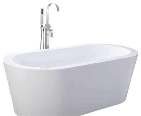 white bathtub helixbath pella freestanding acrylic modern bathtub 59