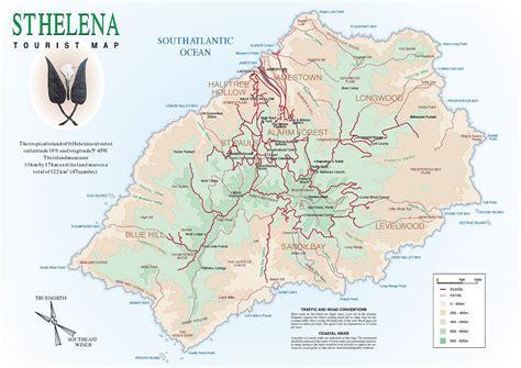 st helena on world map st helena detailed tourist map detailed tourist map of