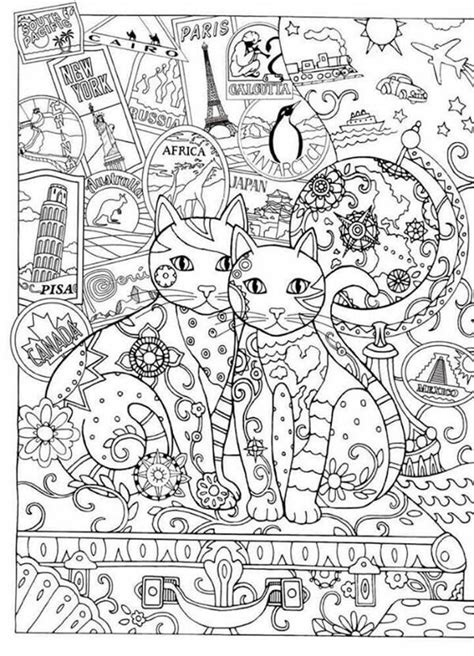 advanced cat coloring pages 435 b 228 sta bilderna om cats to color p 229 pinterest