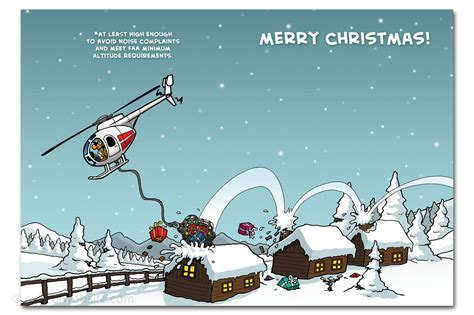 christmas airplane jokes card quot helicopter quot chicken wings 10 cards aviatorwebsite