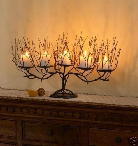 Sell One Like This Rustic Branch Candelabra Candle Holder Twig Candle Holder Centerpiece