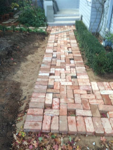 Laying Paver Patio Laying Pavers For A Path Way Recycled Canberra Brick Driveway Pinterest Laying Pavers