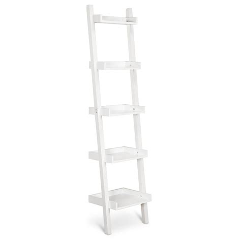 Lowry Narrow Leaning Bookcase White Ebay Leaning Bookcase White