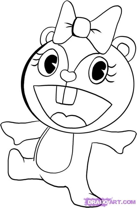 Happy Tree Friends Coloring Pages re post your fav anime drawings d