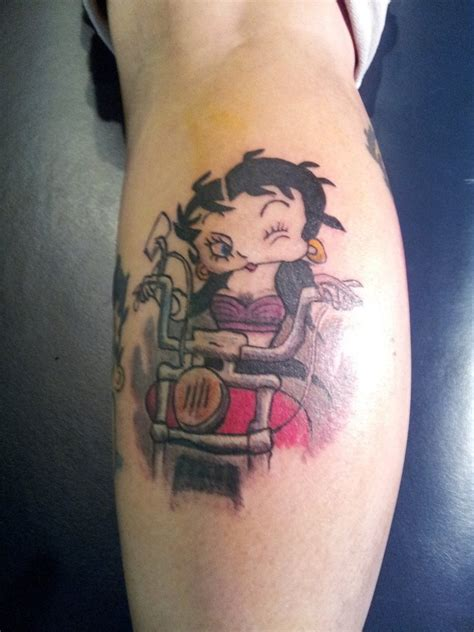 small betty boop tattoo betty boop on skin by downeyjr on deviantart