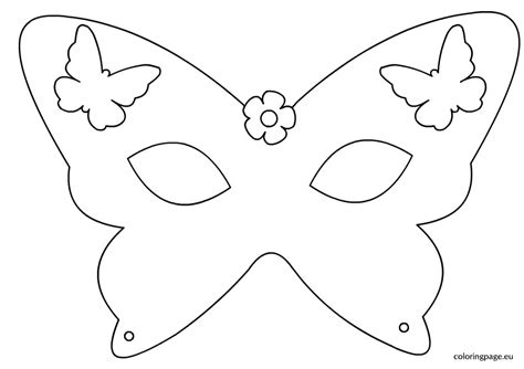 Butterfly Mask Template butterfly mask template coloring page