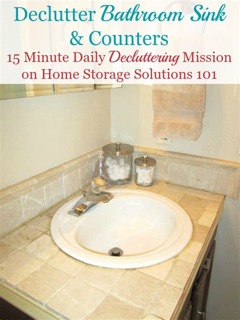 bathroom sink storage solutions how to declutter your bathroom sink counter make it a