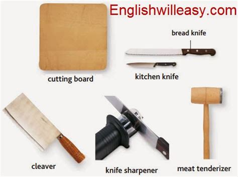 List Of Kitchen Cutting Tools kitchen pictures and list of kitchen utensils with picture