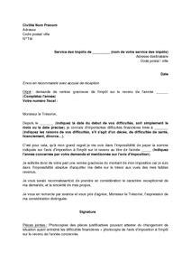 Exemple De Lettre De Demande Remise Gracieuse Lettre De Demande De Remise Gracieuse De L Imp 244 T Sur Le