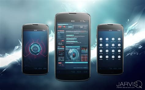 themes for android unite 2 ironman jarvisq theme for android by thenbt on deviantart