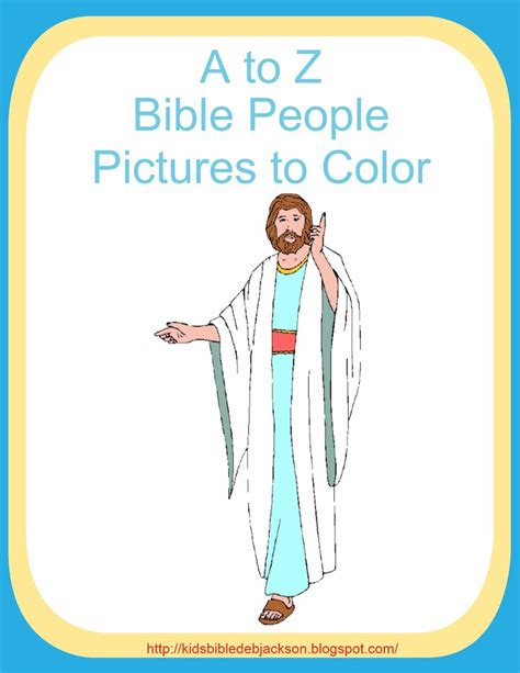 Bible Character With Letter K Bible For A To Z Bible Pictures To Color