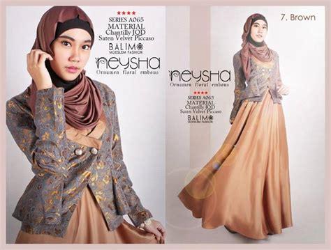Balimo Blue balimo neysha brown baju muslim gamis modern