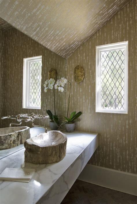 Floating Marble Vanity   Eclectic   bathroom   Thompson