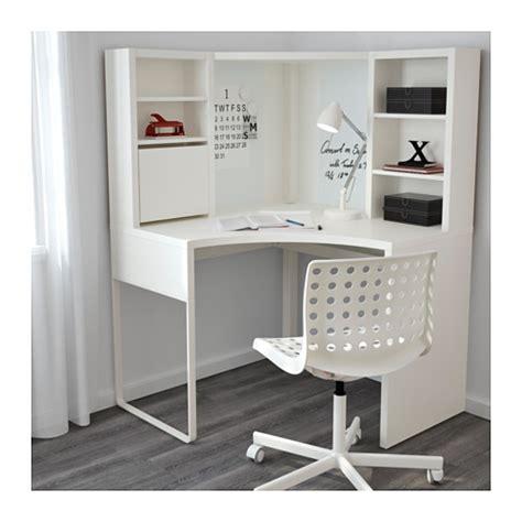 Micke Poste De Travail D Angle Blanc 100x141 Cm Ikea Ikea Bureau Angle