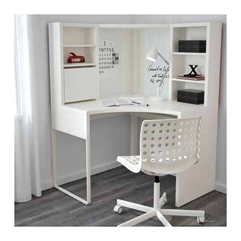 ikea desk white micke poste de travail d angle blanc 100x141 cm ikea