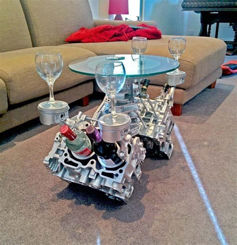 Engine Glass Coffee Table I Thought This S Idea Was Completely Then I Saw The Result And Wow Vw Golf