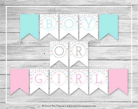 printable gender reveal banner twinkle little star gender reveal banner printable