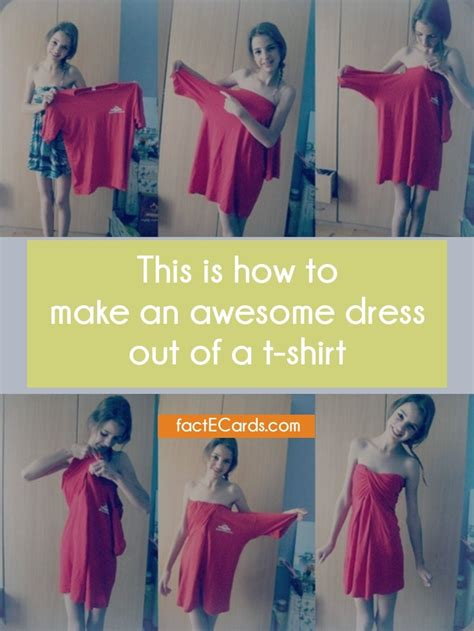 How To Make A T Shirt Out Of Paper - this is how to make an awesome dress out of a t shirt