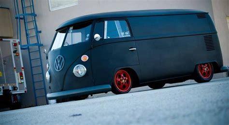 black volkswagen bus matte black vw type 1 panel van cars pinterest