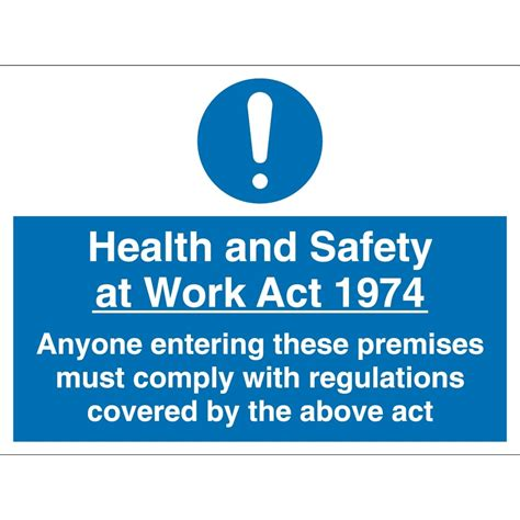 health and safety act section 2 health and safety at work act signs from key signs uk