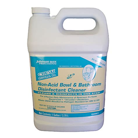 acid bathroom cleaner crew non acid bathroom bowl disinfectant cleaner sku