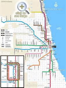 Chicago Public Transportation Map by Chicago O Hare Blue Line Submited Images