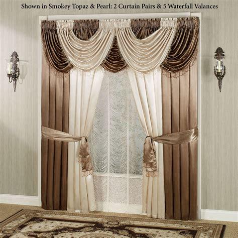 waterfall curtains valance portia ii waterfall valance window treatments