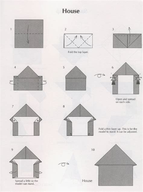 Folded Paper House - origami house house origami origami