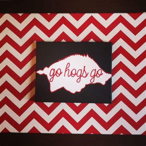 best 25 razorback canvas ideas on lsu arkansas razorback painting and arkansas